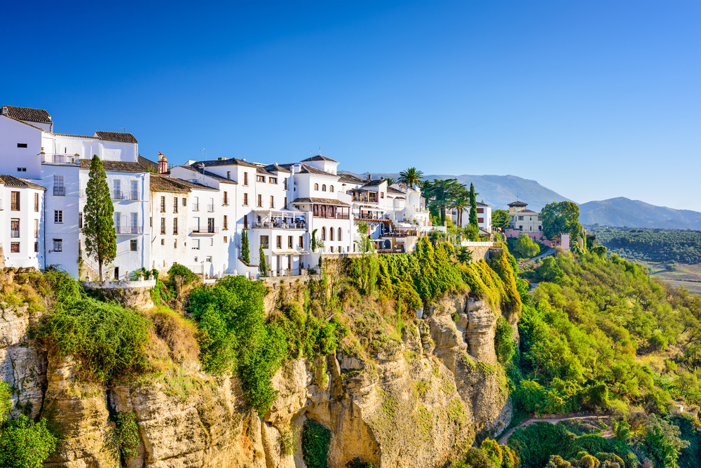 White houses on the gorge in Ronda