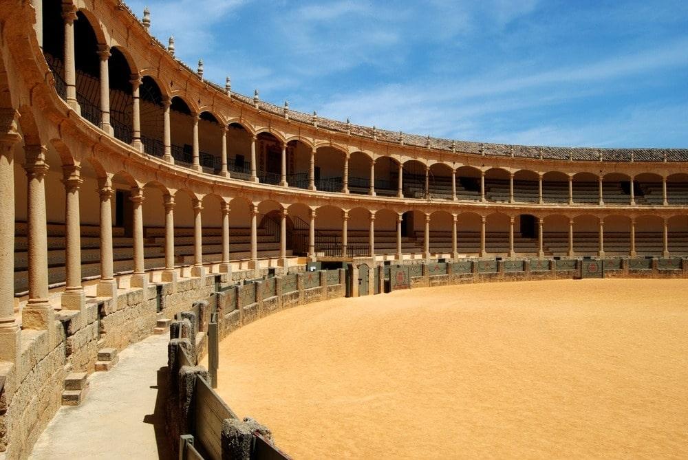 Binnenland van de arena in Ronda