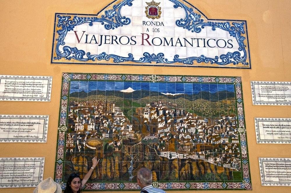Fliesen Ronda a los Viajeros Románticos in Ronda