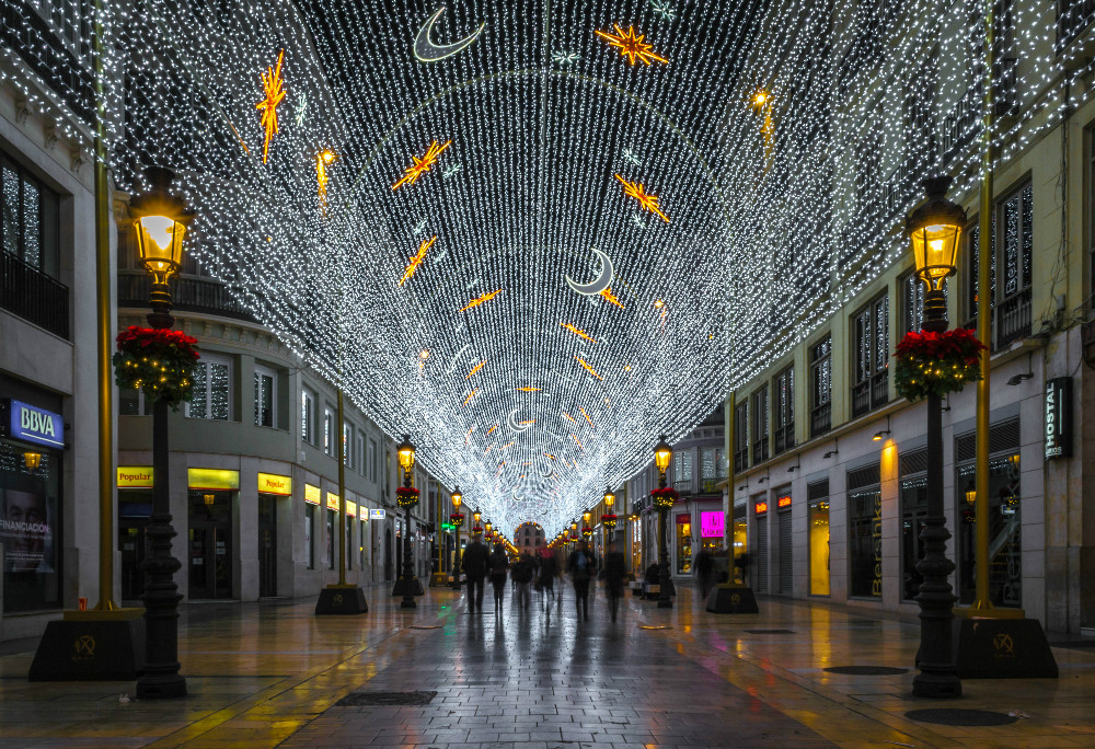 Christmas street lights in Calle Larios, Malaga