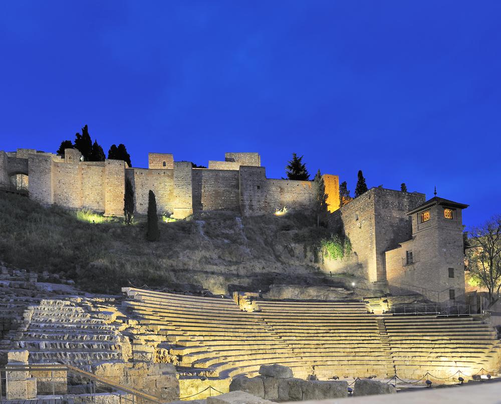 Teatro Romano con Alcazaba. secretos de Málaga