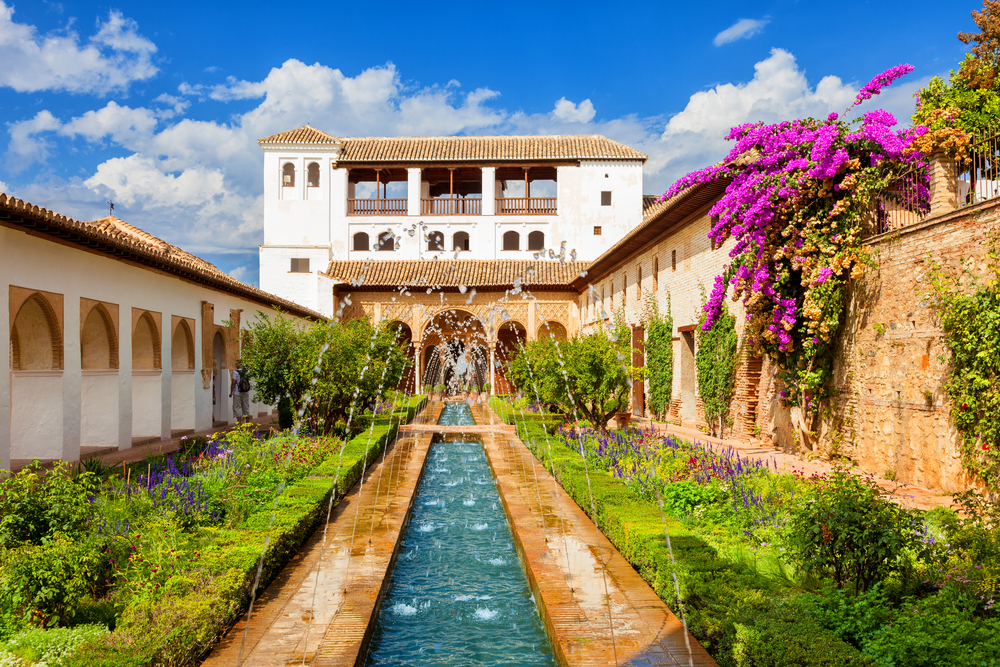 Gardens in the Alhambra, Granada