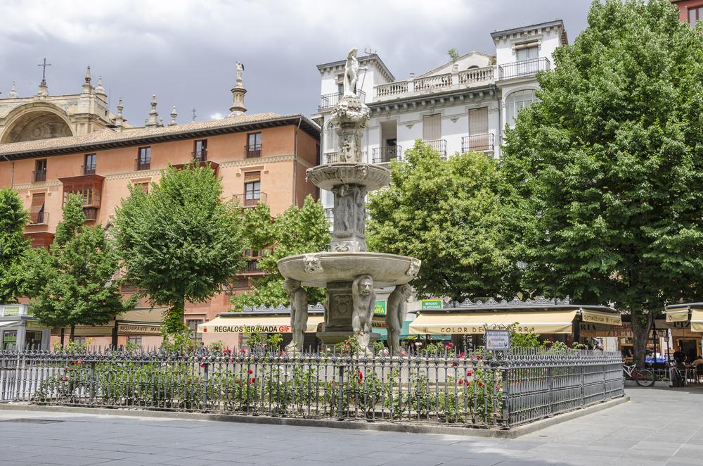Bib Rambla square in Granada