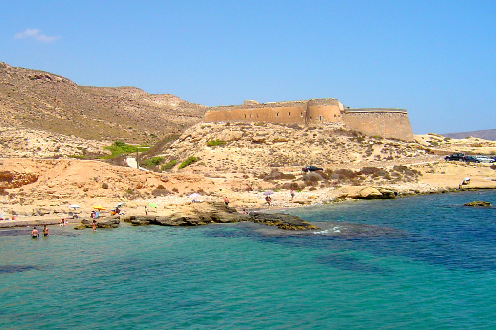 El Playazo beach in Rodalquilar, Almeria