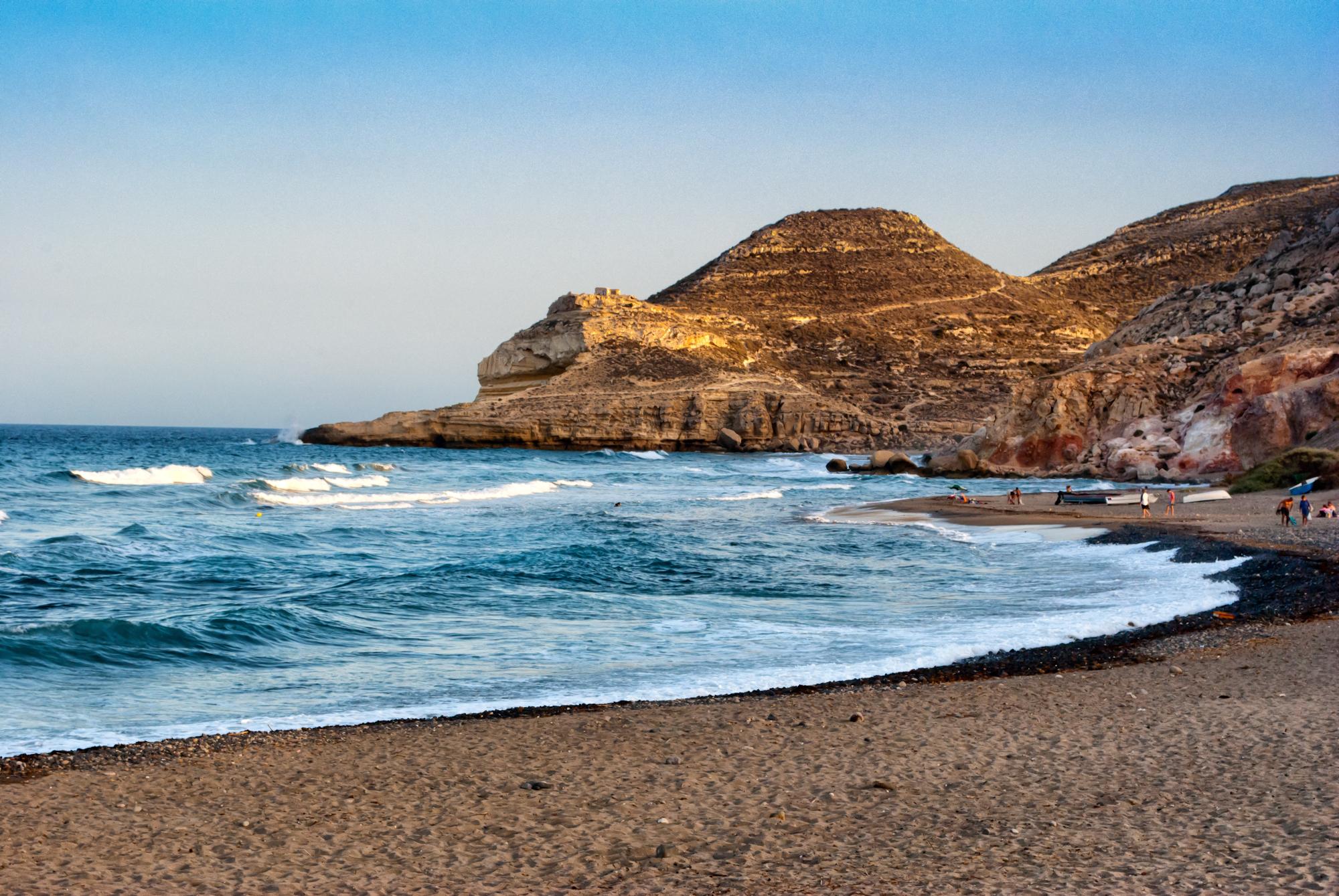 Playa de Las Negras, en Níjar