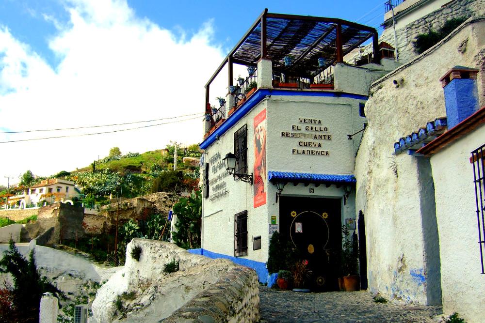 Sacromonte caves with Flamenco school, Granada