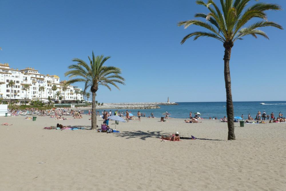 Playa de Puerto Banus en Marbella, Málaga