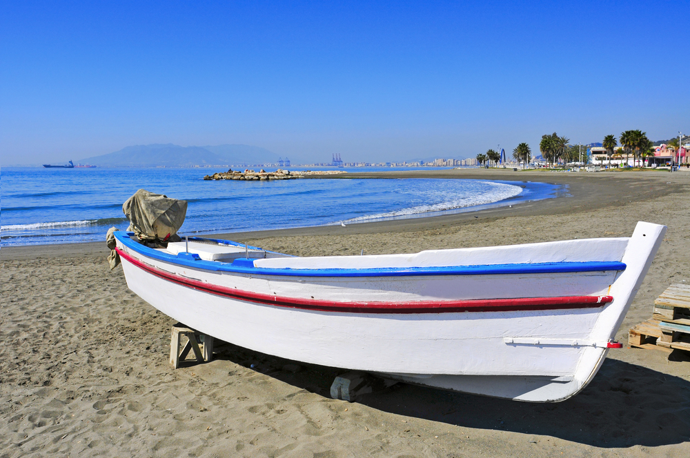 Beach of Pedregalejo in Malaga