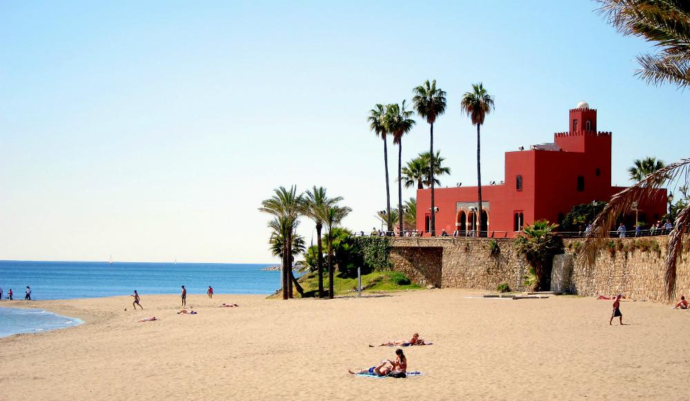 Bil-Bil beach in Benalmadena, Malaga
