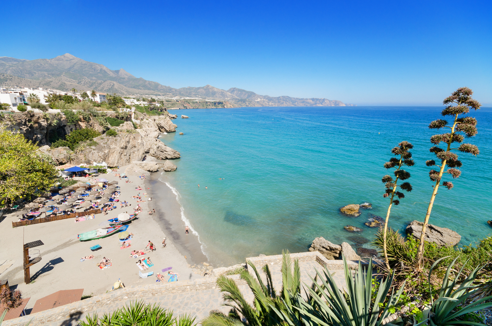 Playa de Calahonda en Nerja, Málaga