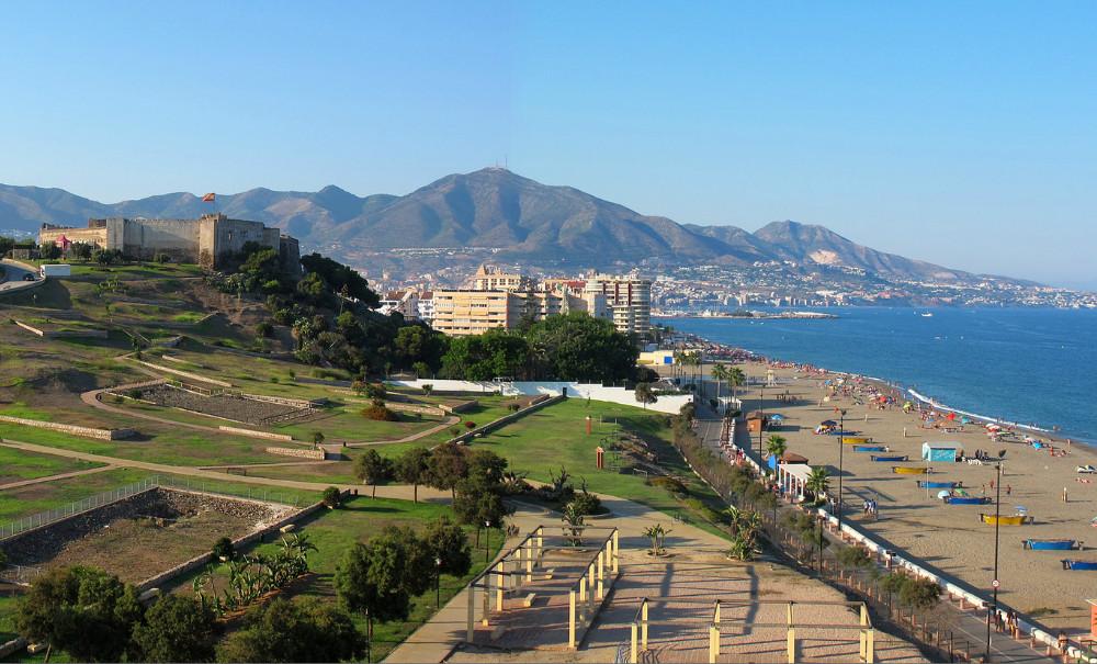 Playa del Castillo en Fuengirola, Málaga