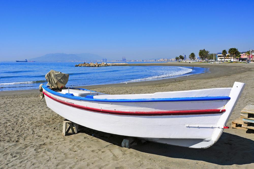 Strand von Pedregalejo in Malaga