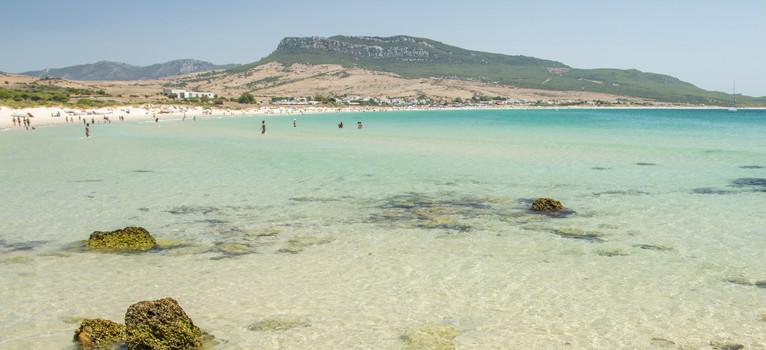 Playa de Bolonia, en Tarifa, Cádiz