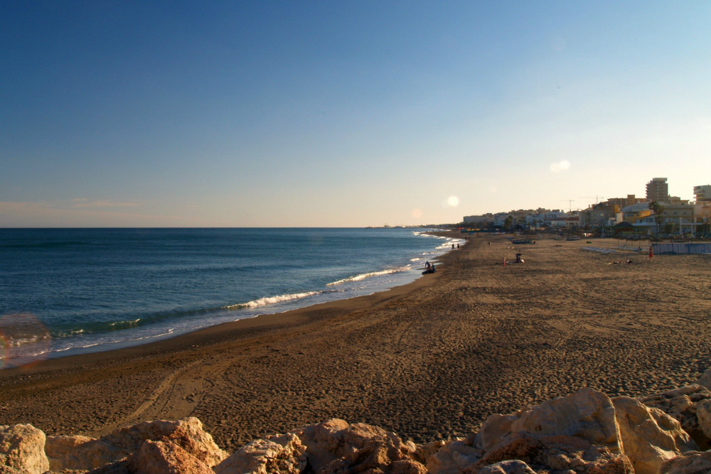 Best beaches in Malaga: Playamar beach in Torremolinos, Malaga