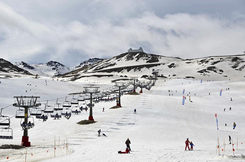 Pradollano ski station in Sierra Nevada, Granada