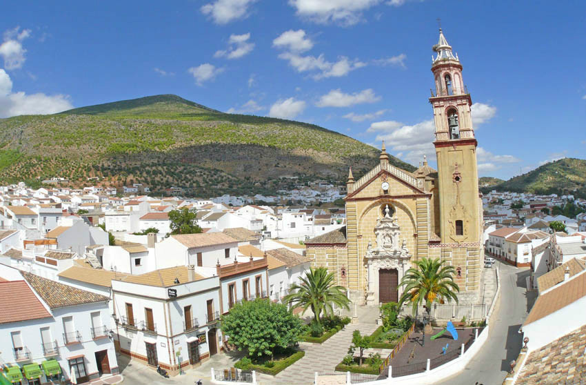 White village of Algodonales in the province of Cadiz