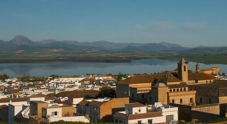 White village of Bornos, in the province of Cadiz