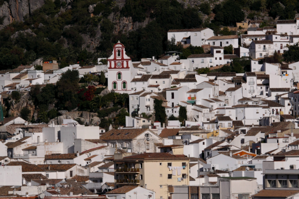 White village of Ubrique in the province of Cadiz