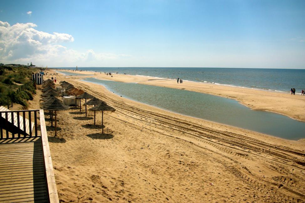 La Islantilla beach in Huelva
