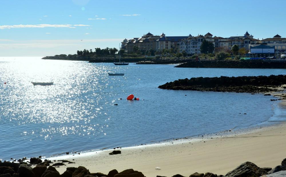 Playa de Punta del Moral, en Huelva
