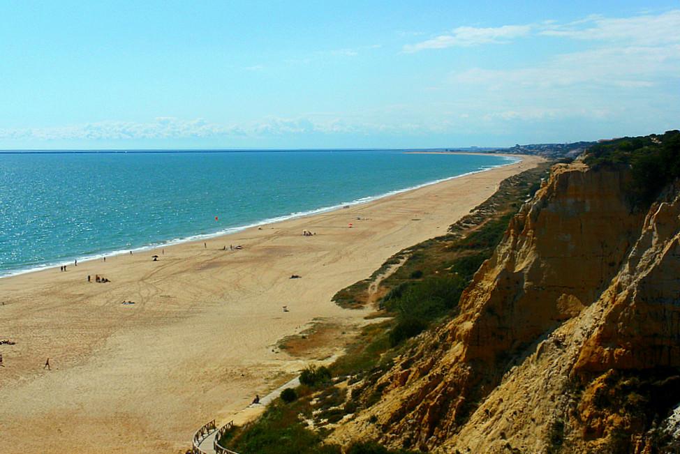Playa del Parador, en Huelva
