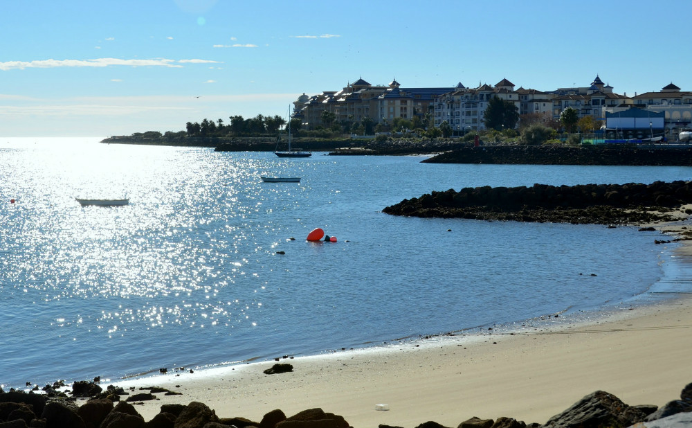 Punta del Moral beach, in Huelva
