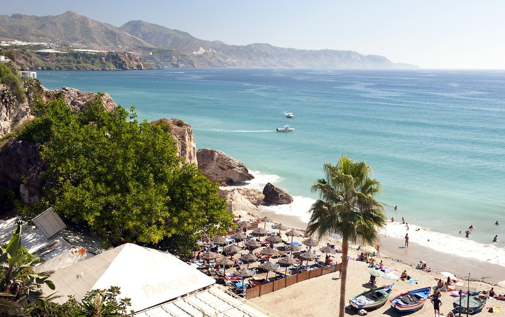 Beach in Nerja - what to visit in Nerja