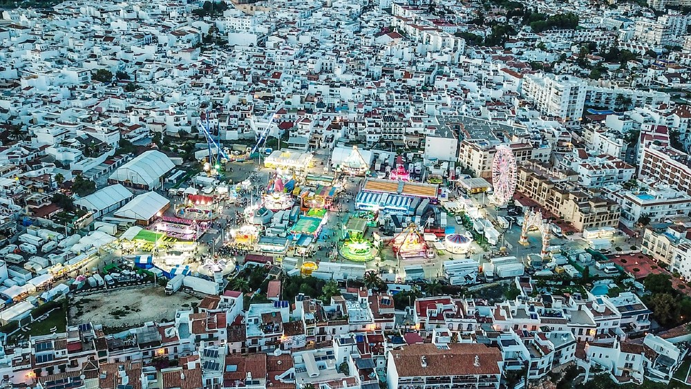 Nerja Fair seen from above