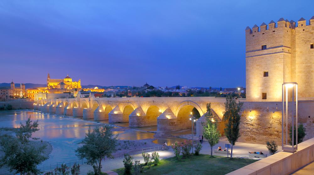 Puente romano con torre en Córdoba