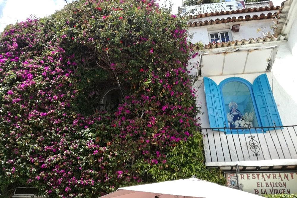 Restaurant El Balcón de la Virgen in de oude binnenstad van Marbella
