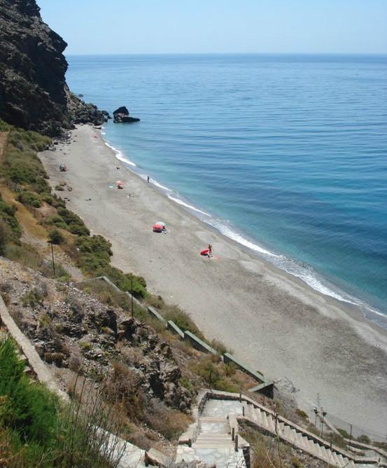 La Joya beach in Granada