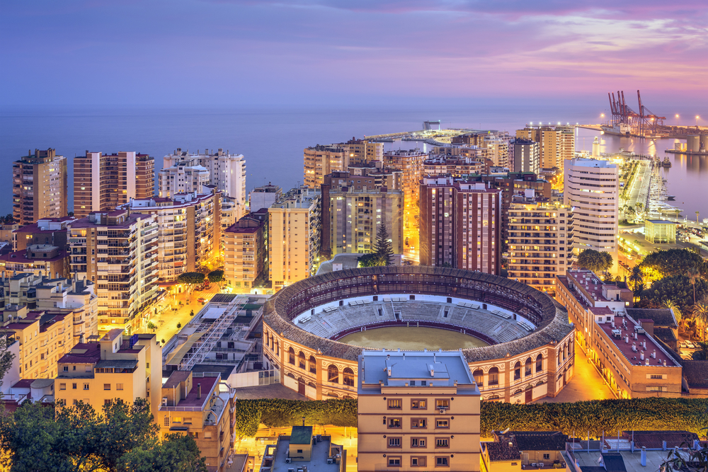 Culturele route Malaga: Plaza de Toros van Malaga