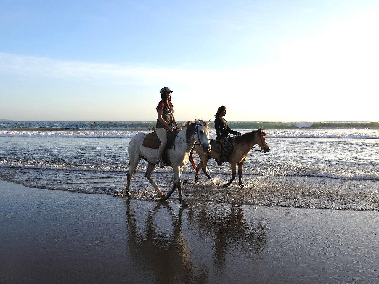 Tour à chebal sur la plage à Tarifa