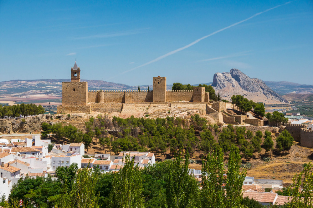 Alcazaba in Antequera and Lovers' Rock