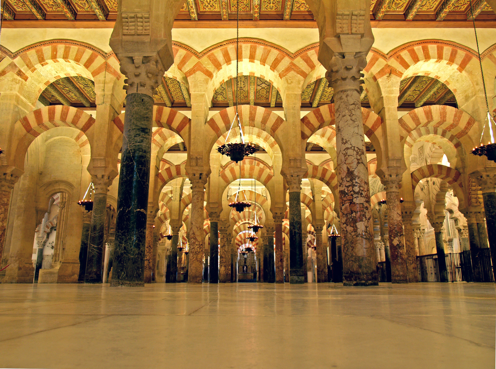 Arches in the Mosque-Cathedral of Cordoba