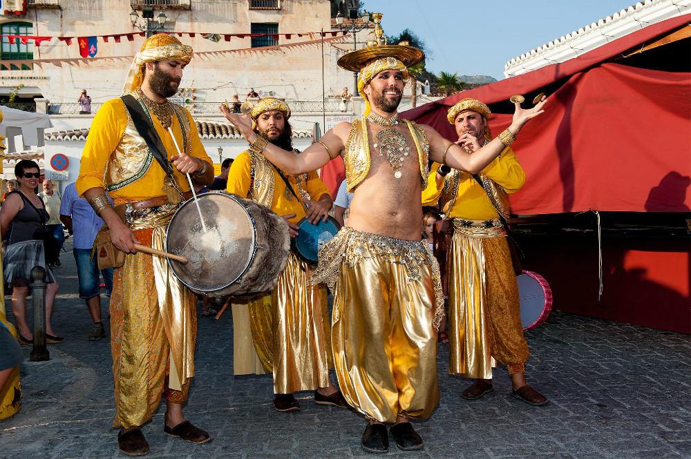 Dancers in the streets in Frigiliana