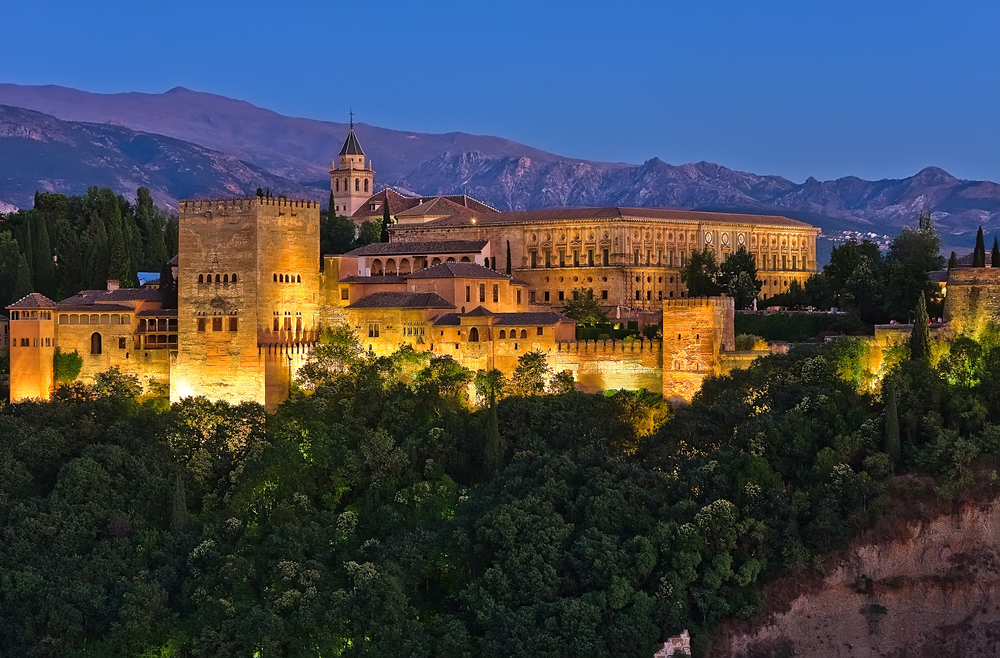 Night visit to the Alhambra of Granada