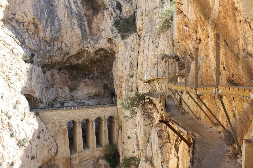 Chemin Caminito del Rey vieu et nouveau