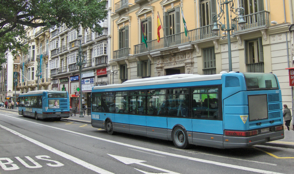 How to get to Malaga by bus - Bus stop in the Alameda Principal