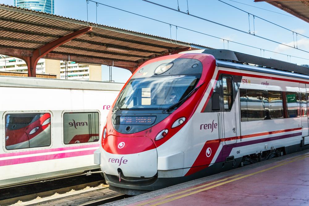 Cercanías RENFE Málaga en tren