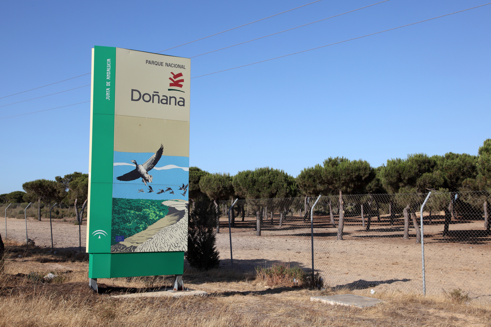 Doñana board at the entrance of Doñana