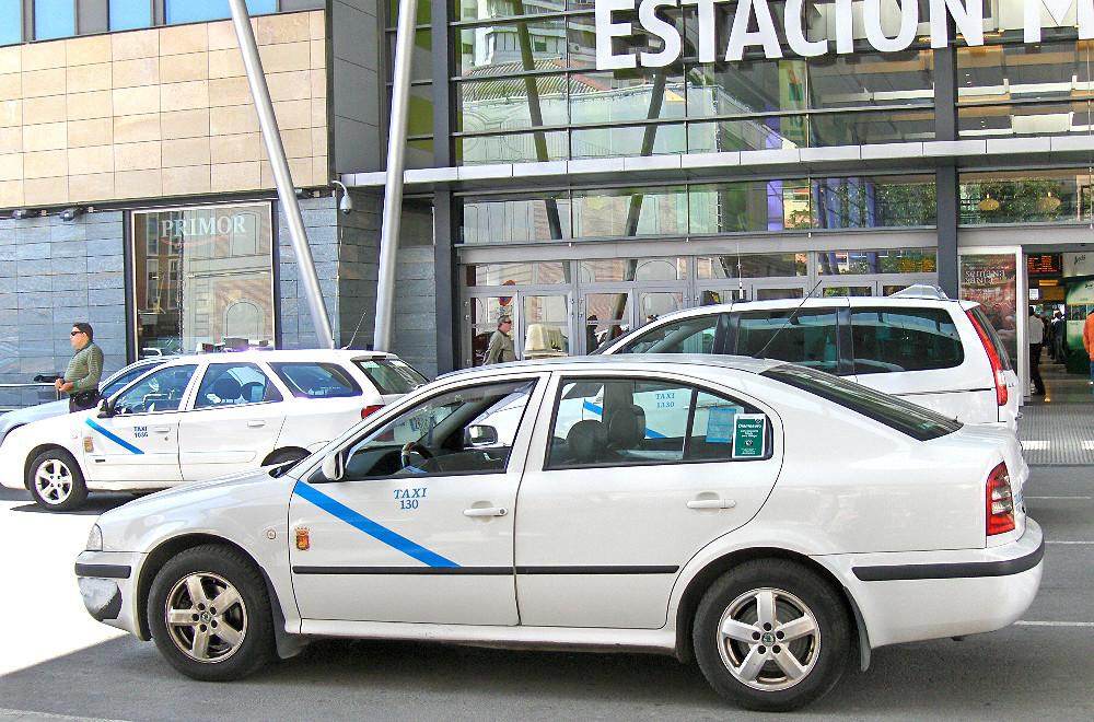 Malaga mit dem Taxi