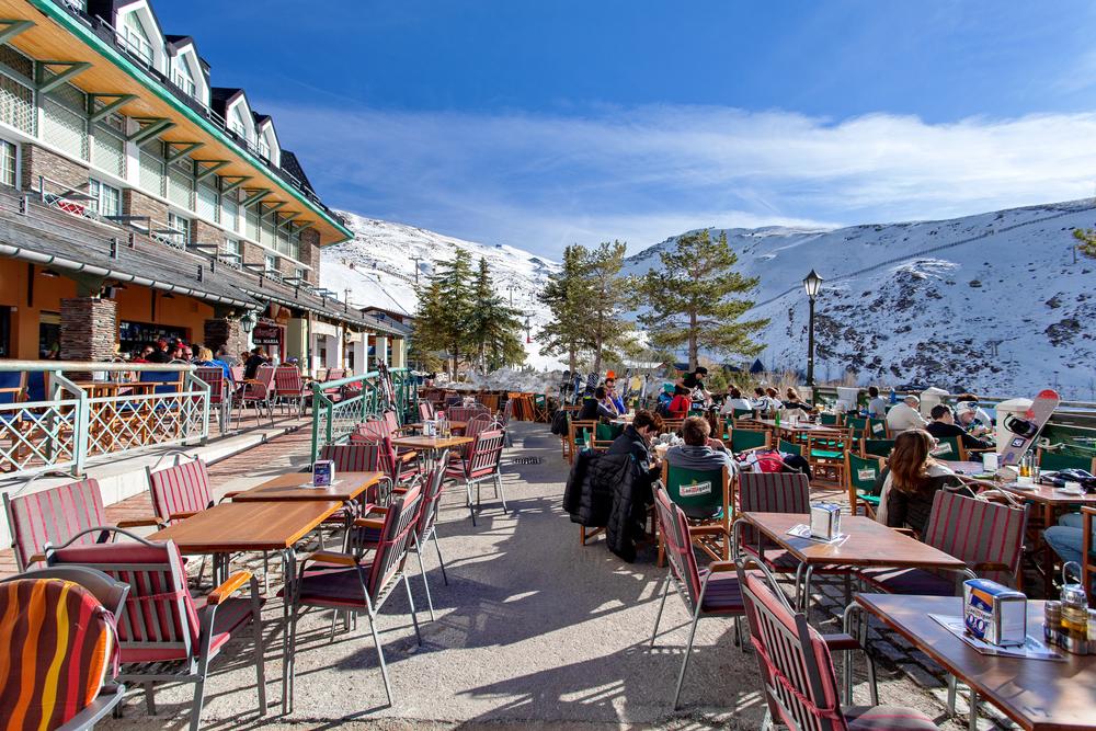 Pradollano ski station in Sierra Nevada