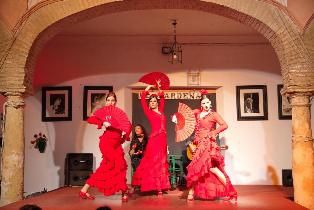 flamenco dansers op het podium