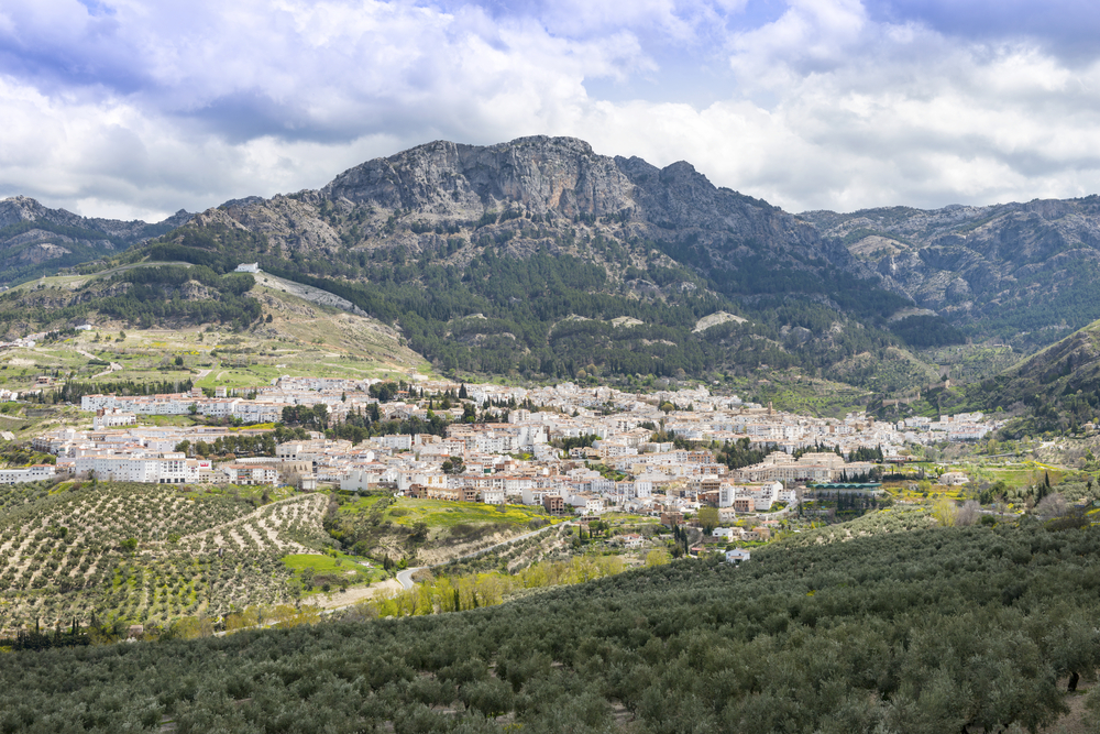 Towns and different landscapes in natural park of Sierras de Cazorla y Segura
