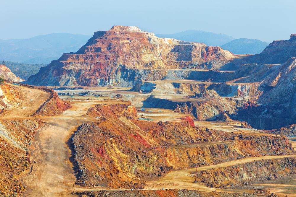 Het landschap van het mijnen van Riotinto