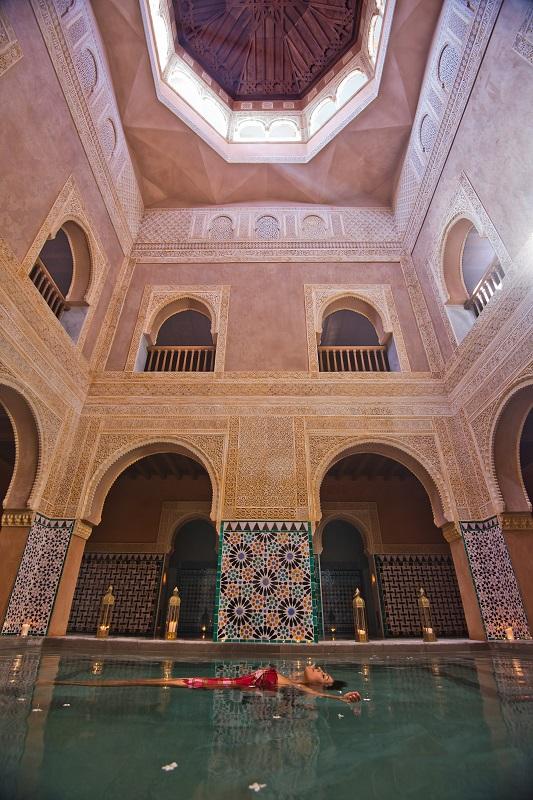 Kuppel des Hammams Al-Ándalus Malaga Spanien