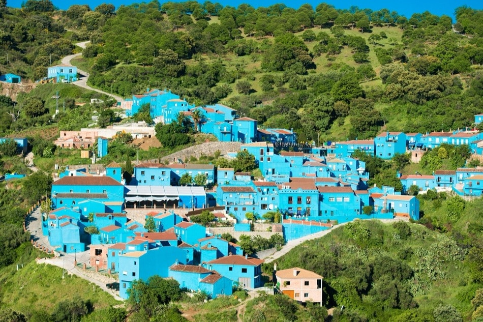 Le villages des schtroumpf Júzcar (Malaga)