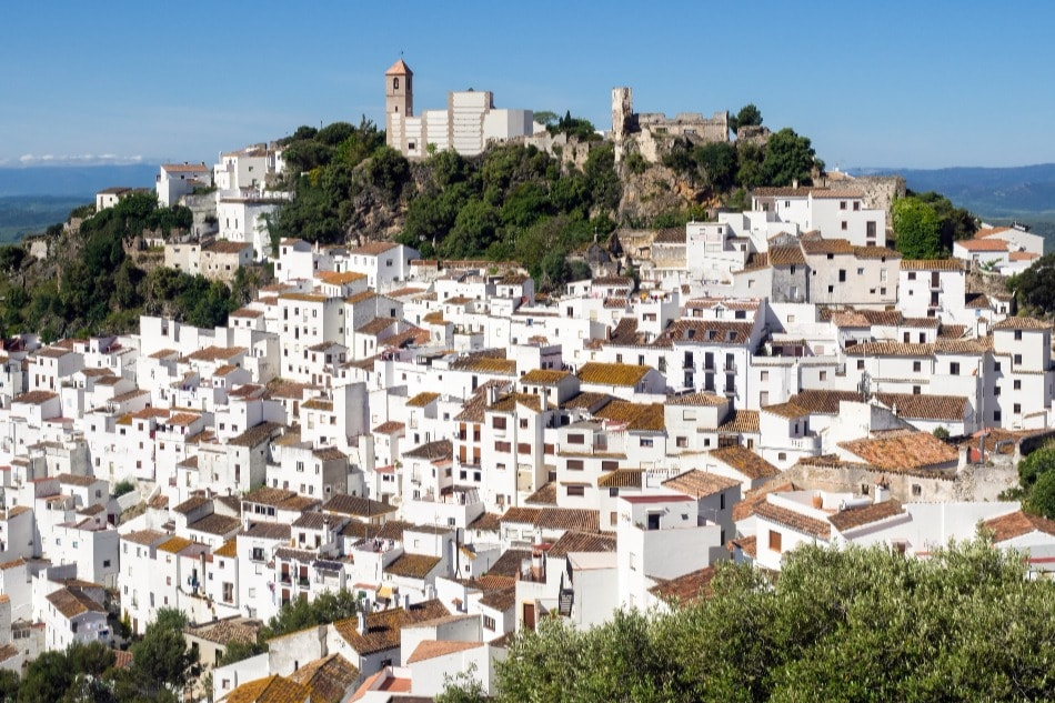 The white town of Casares (Malaga)