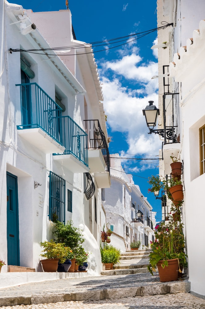 The white town of Frigiliana (Malaga)